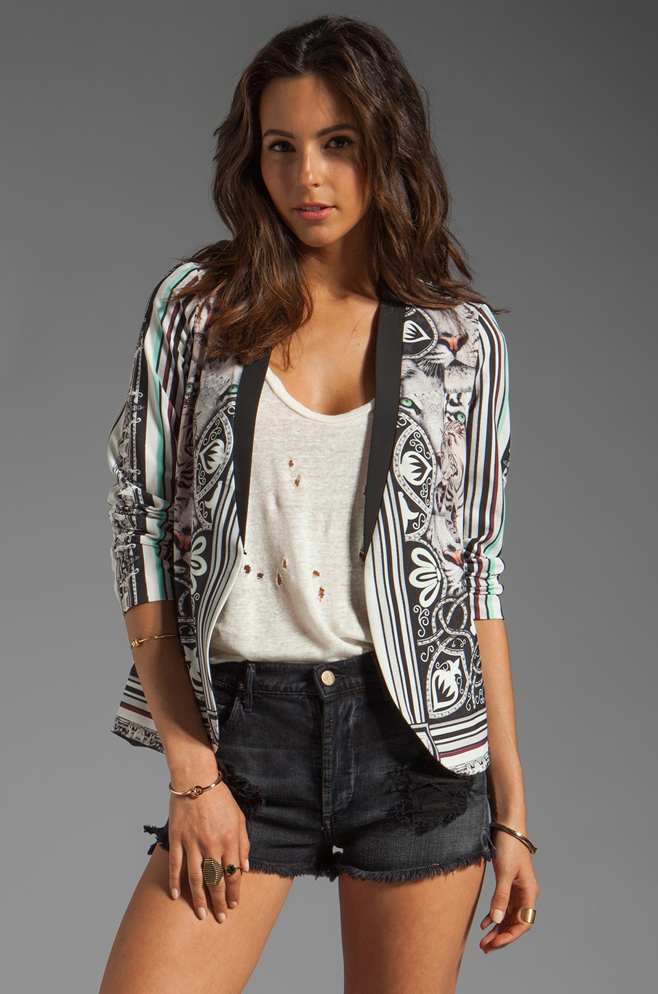 Clover Canyon Eye Of The Tiger Jacket in Multi