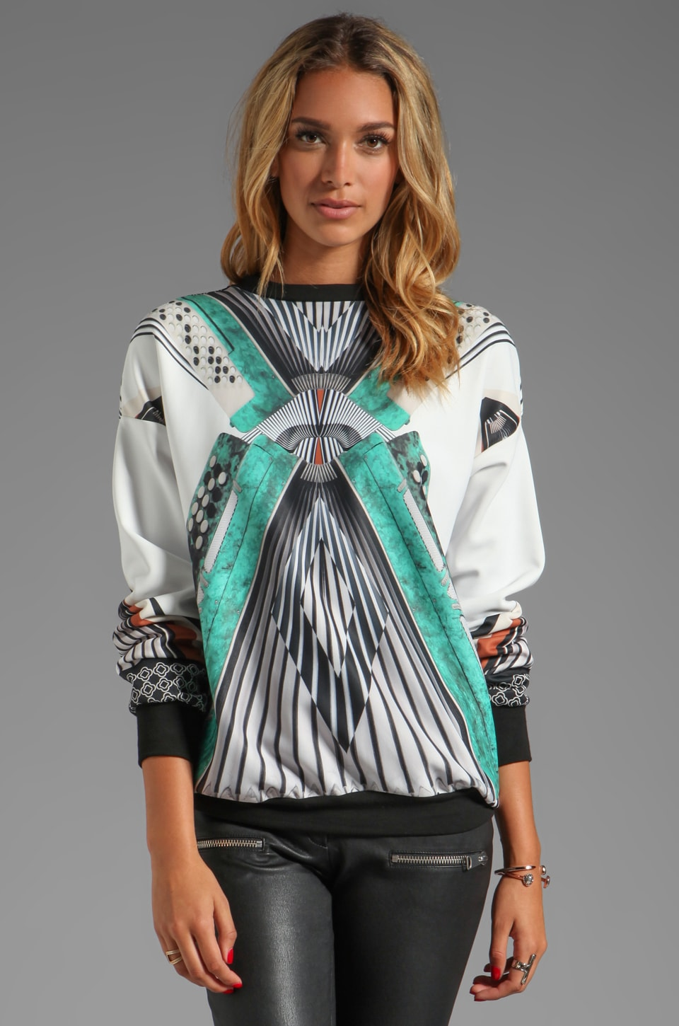 Clover Canyon Accordian Sweatshirt in White
