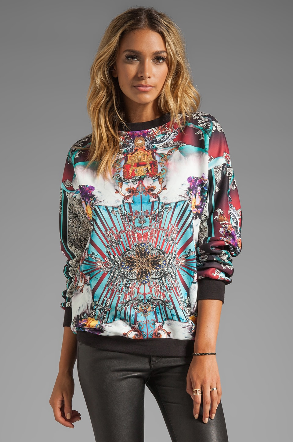 Clover Canyon Royal Horses Sweatshirt in Multi