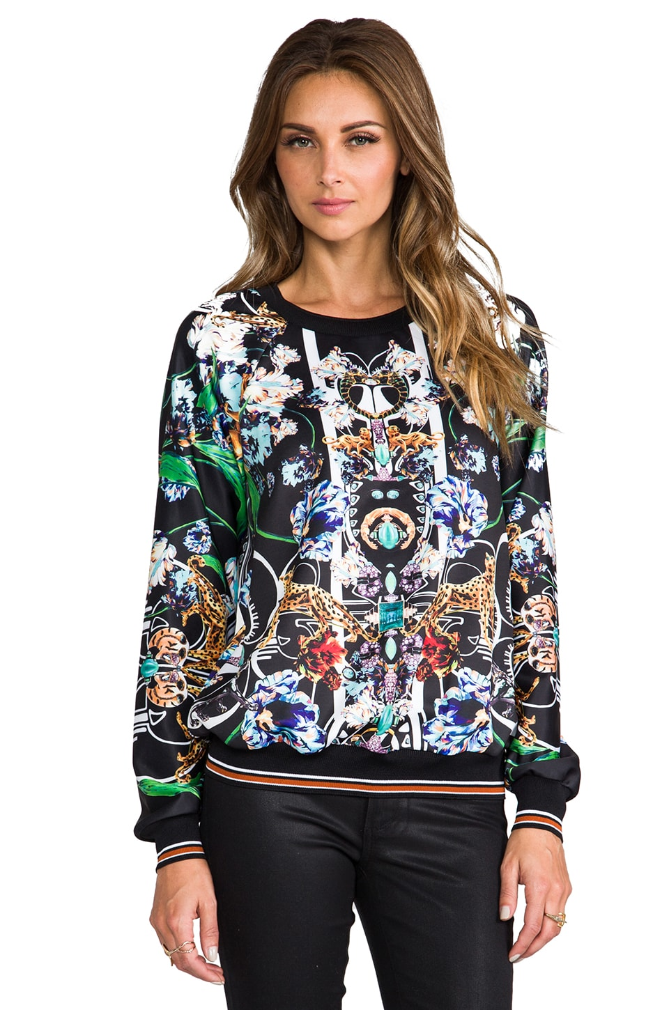 Clover Canyon Gold Panther Sweatshirt in Multi