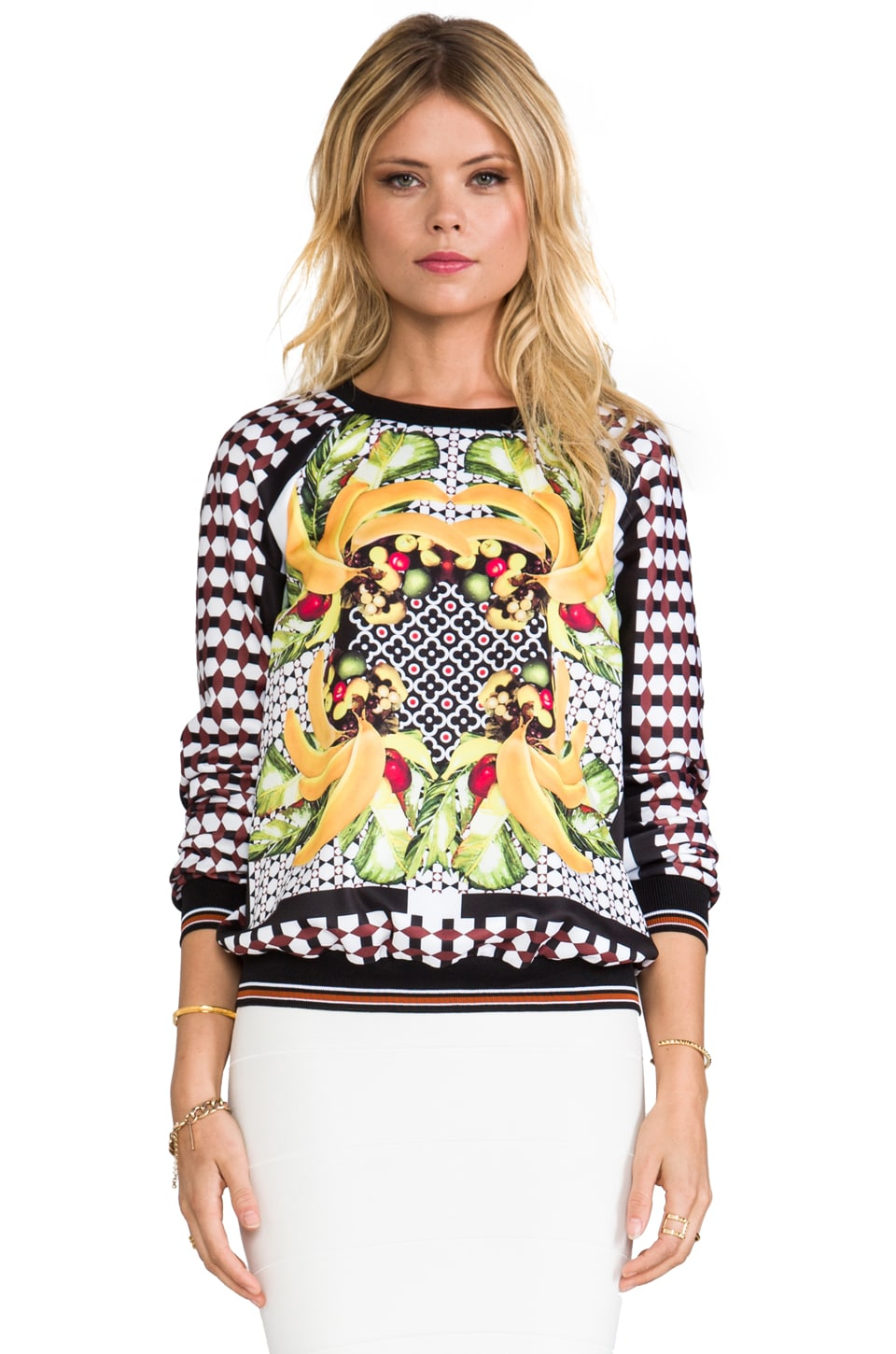 Clover Canyon Banana Scarf Sweatshirt in Multi