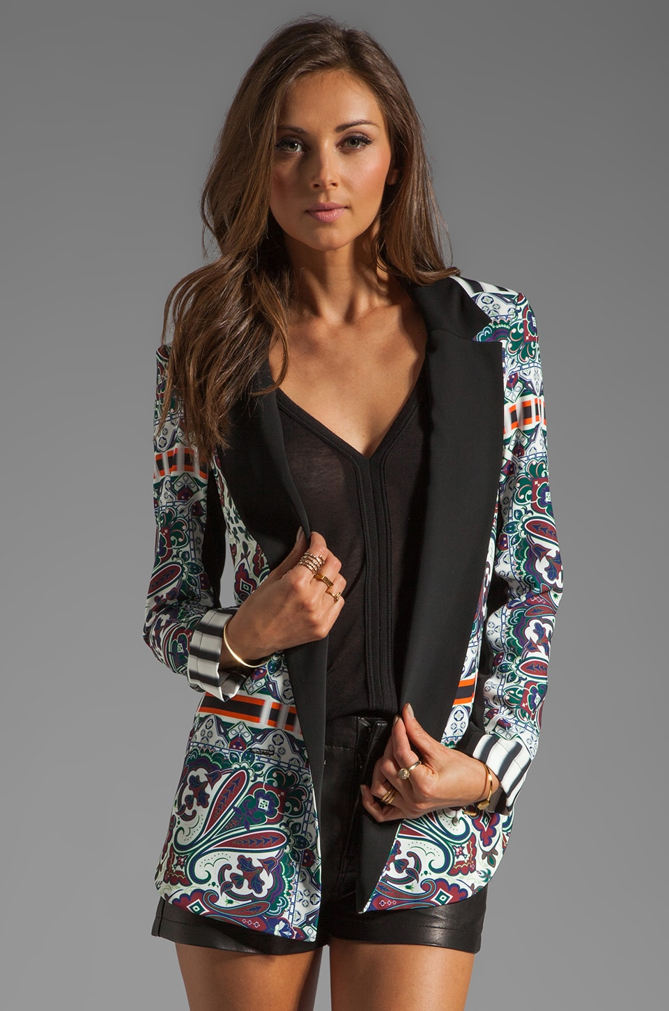 Clover Canyon Paisley Road Soft Suiting Blazer in Multi