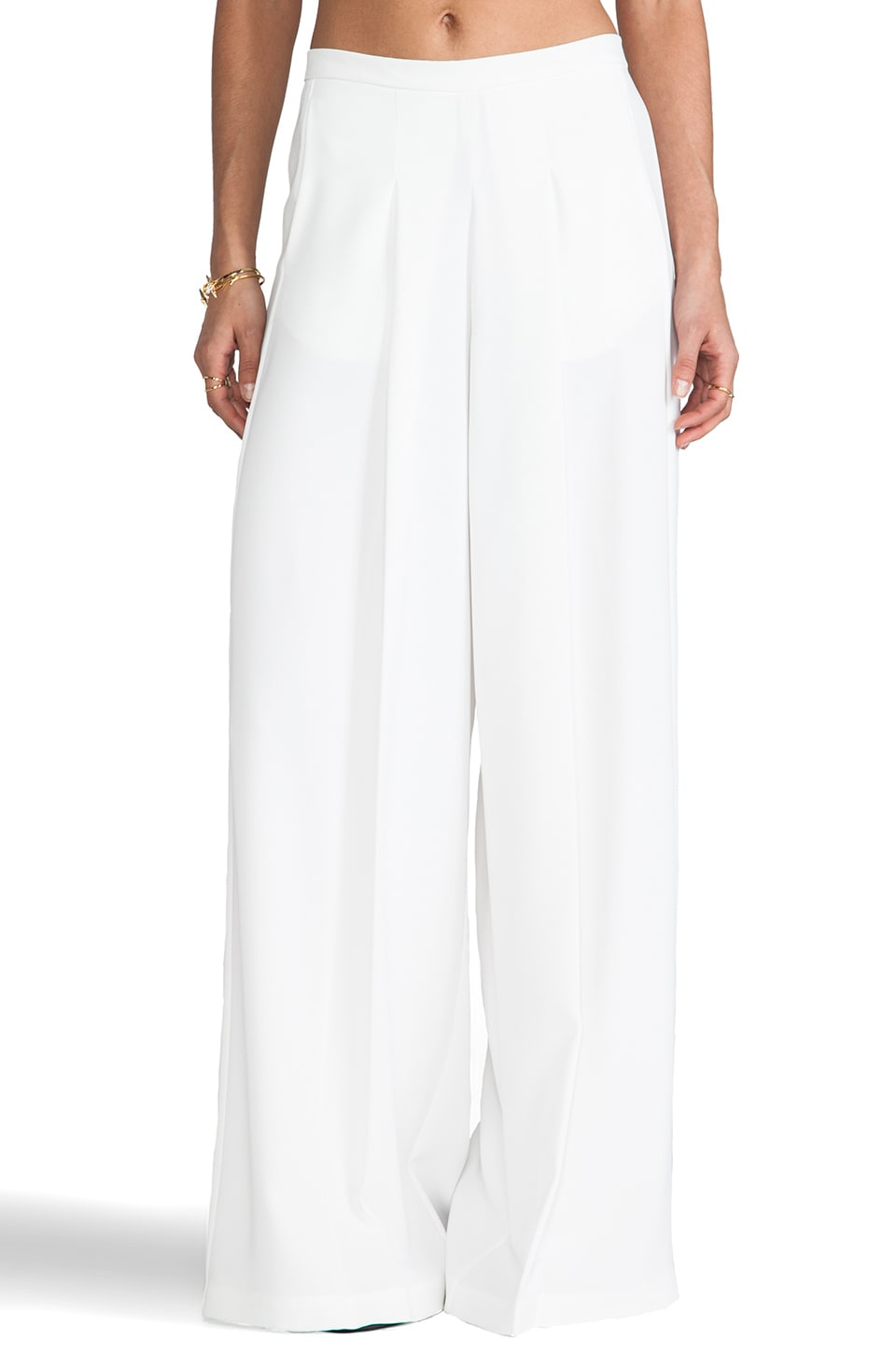 Clover Canyon Wide Leg Pant in White