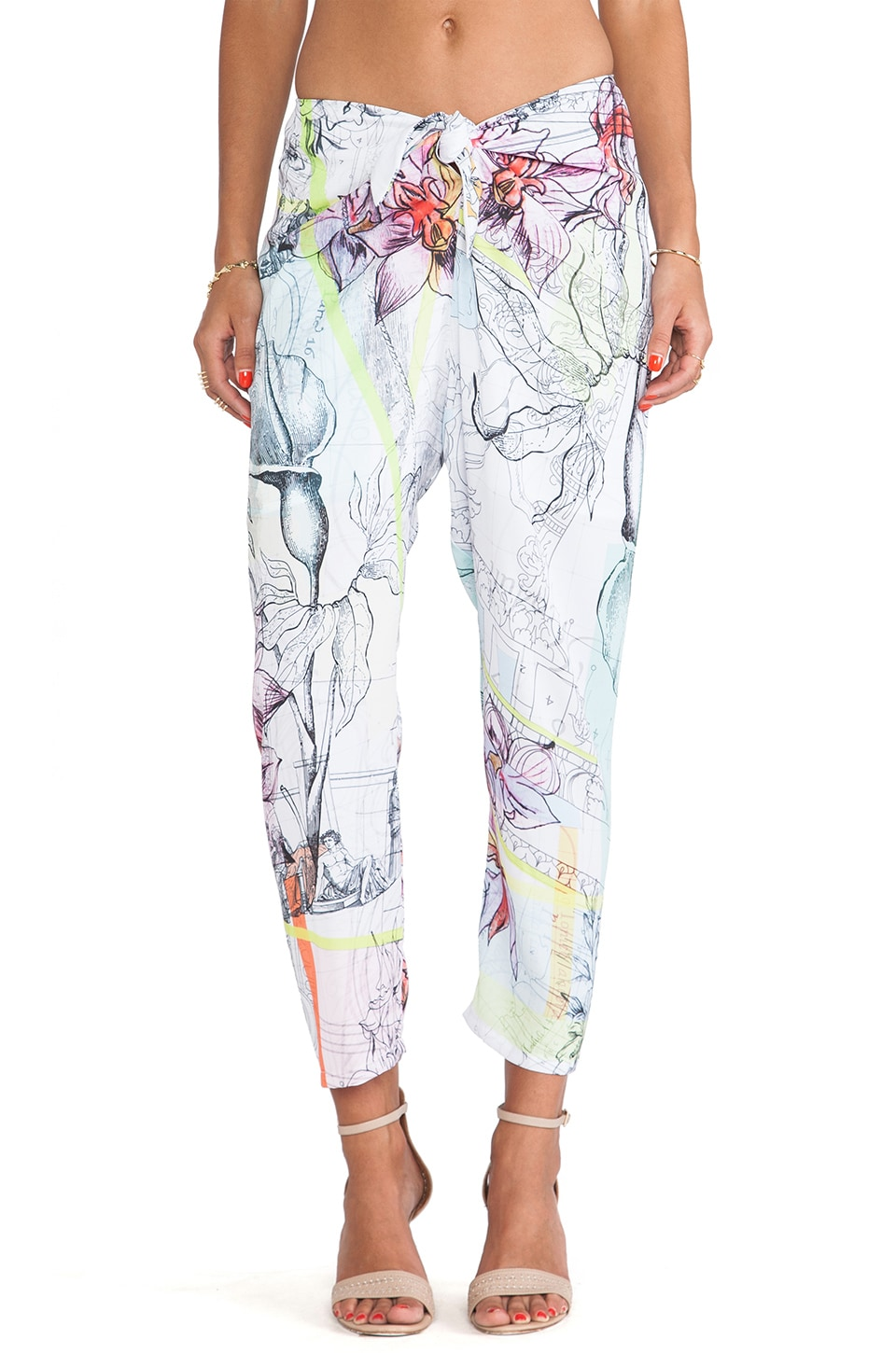 Clover Canyon Floral Line Drawing Pant in Multi
