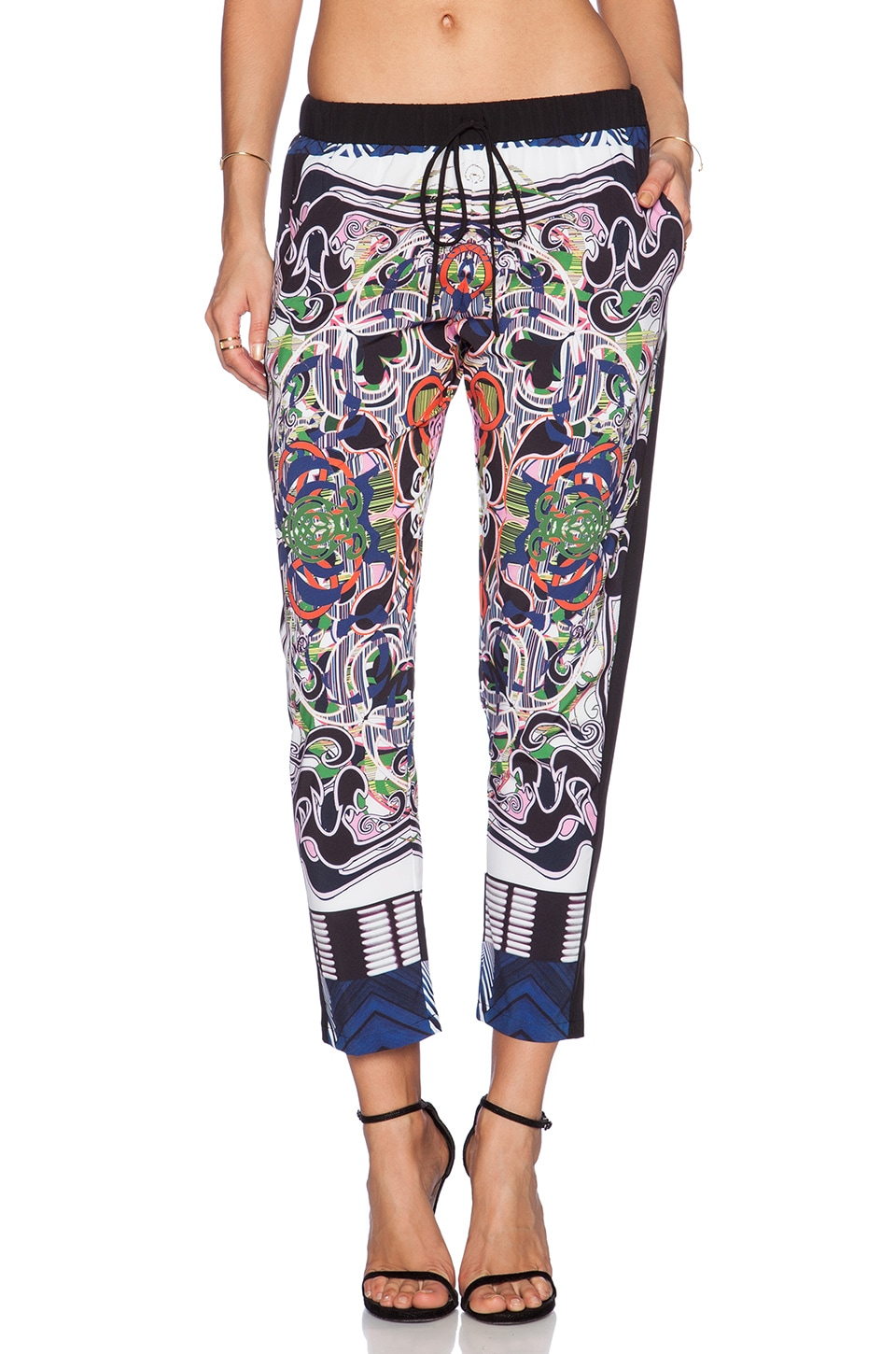 Clover Canyon Swirling Scarf Drawstring Pants in Multi
