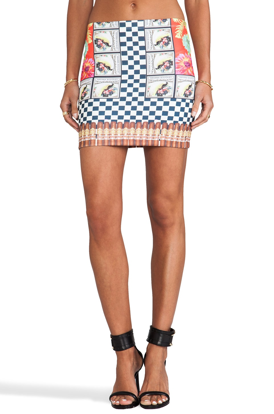 Clover Canyon Cuban Cigars Skirt in Multi