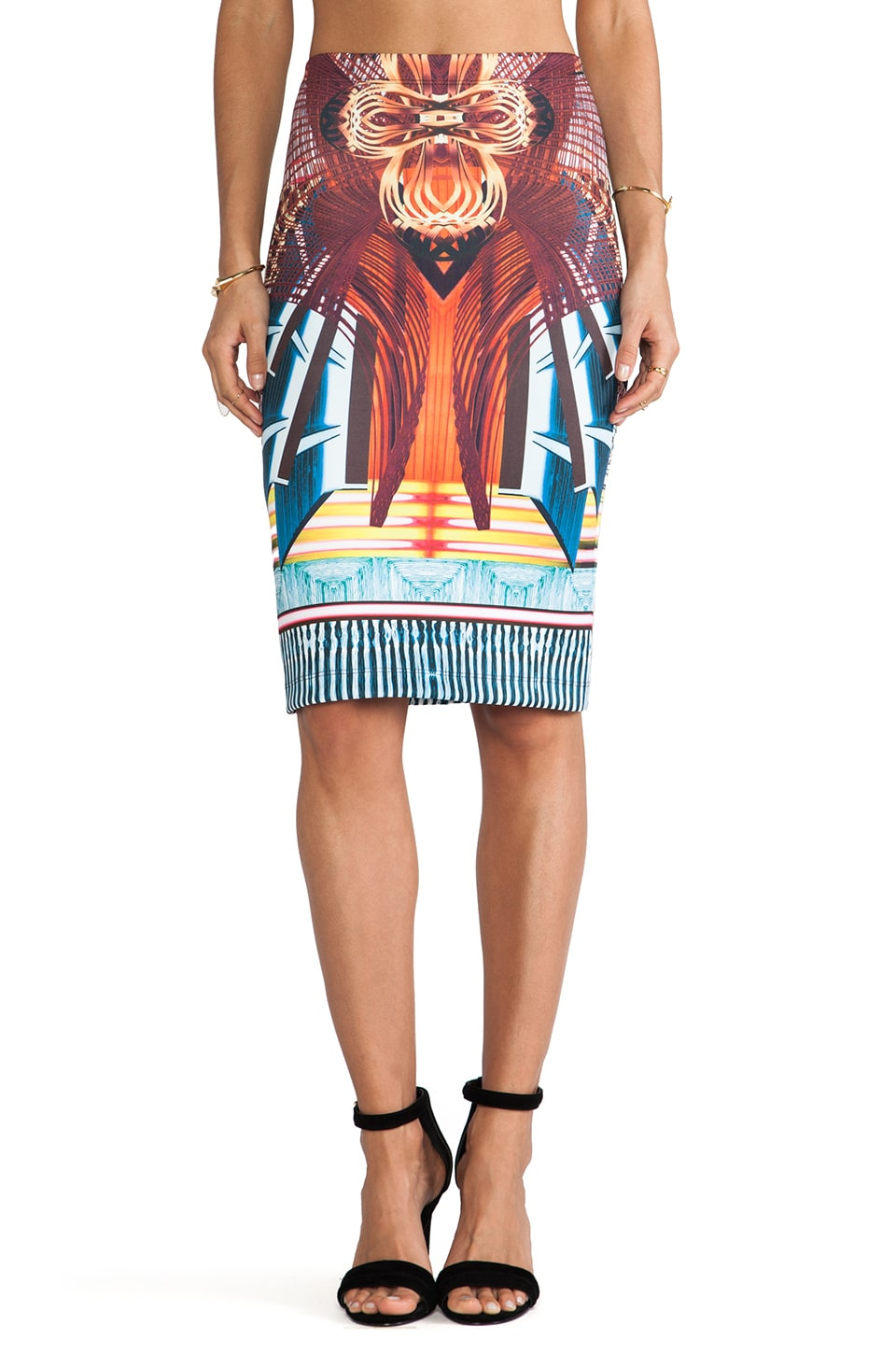 Clover Canyon Furniture Weave Neoprene Skirt in Multi