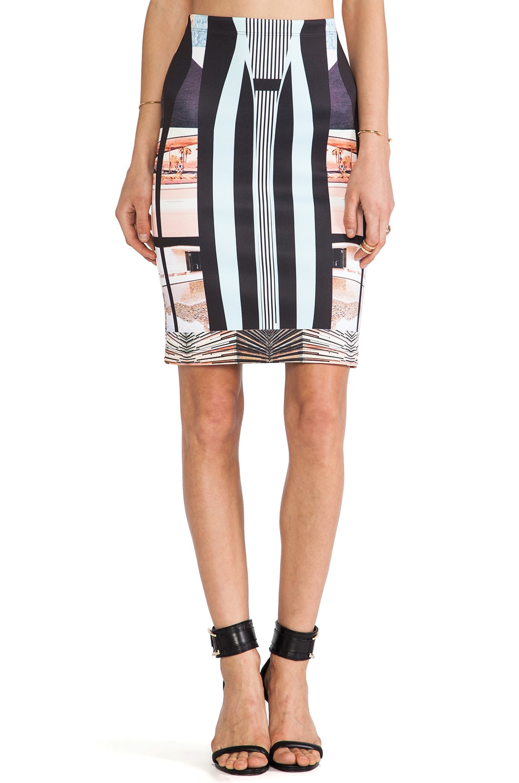 Clover Canyon Desert Home Neoprene Skirt in Multi