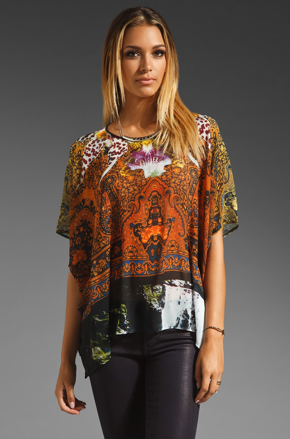 Clover Canyon Ombre Paisley Top in Multi