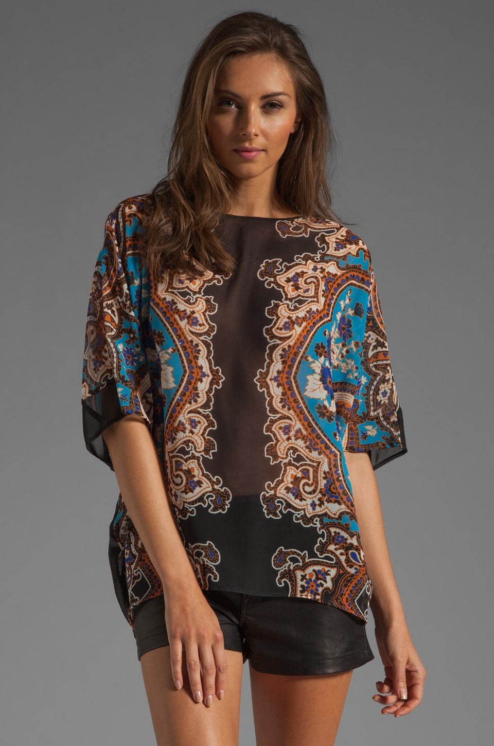 Clover Canyon Holiday Paisley Blouse in Multi