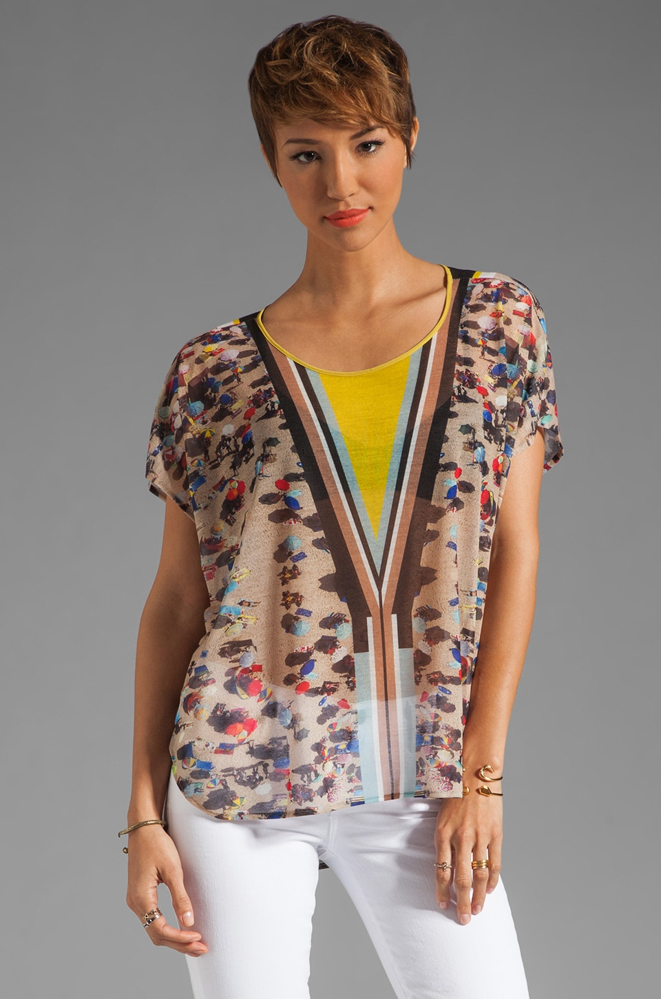 Clover Canyon Beach Short Sleeve Top in Multi