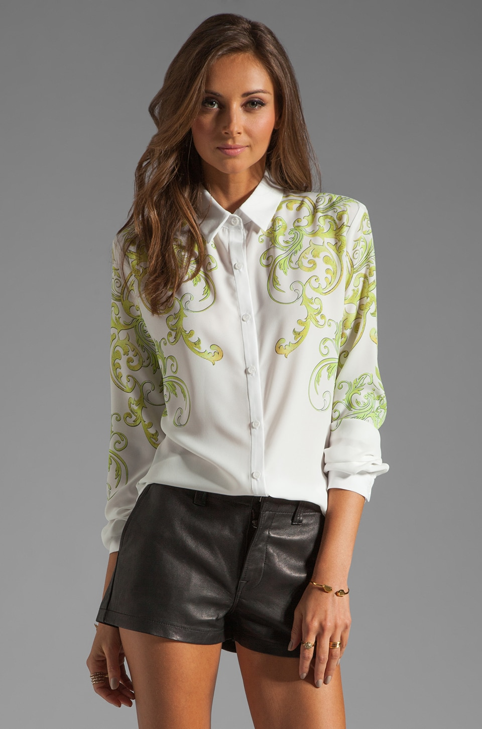 Clover Canyon Neon Filigree Blouse in White