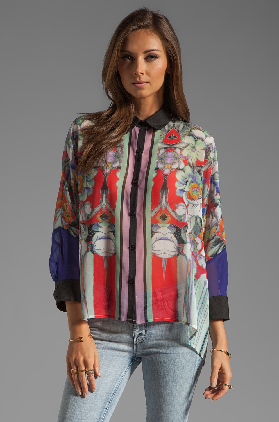 Clover Canyon Flower Tracers Blouse in Red