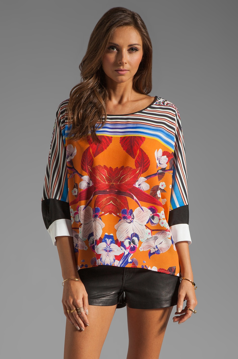 Clover Canyon Prism Orchid Top in Orange