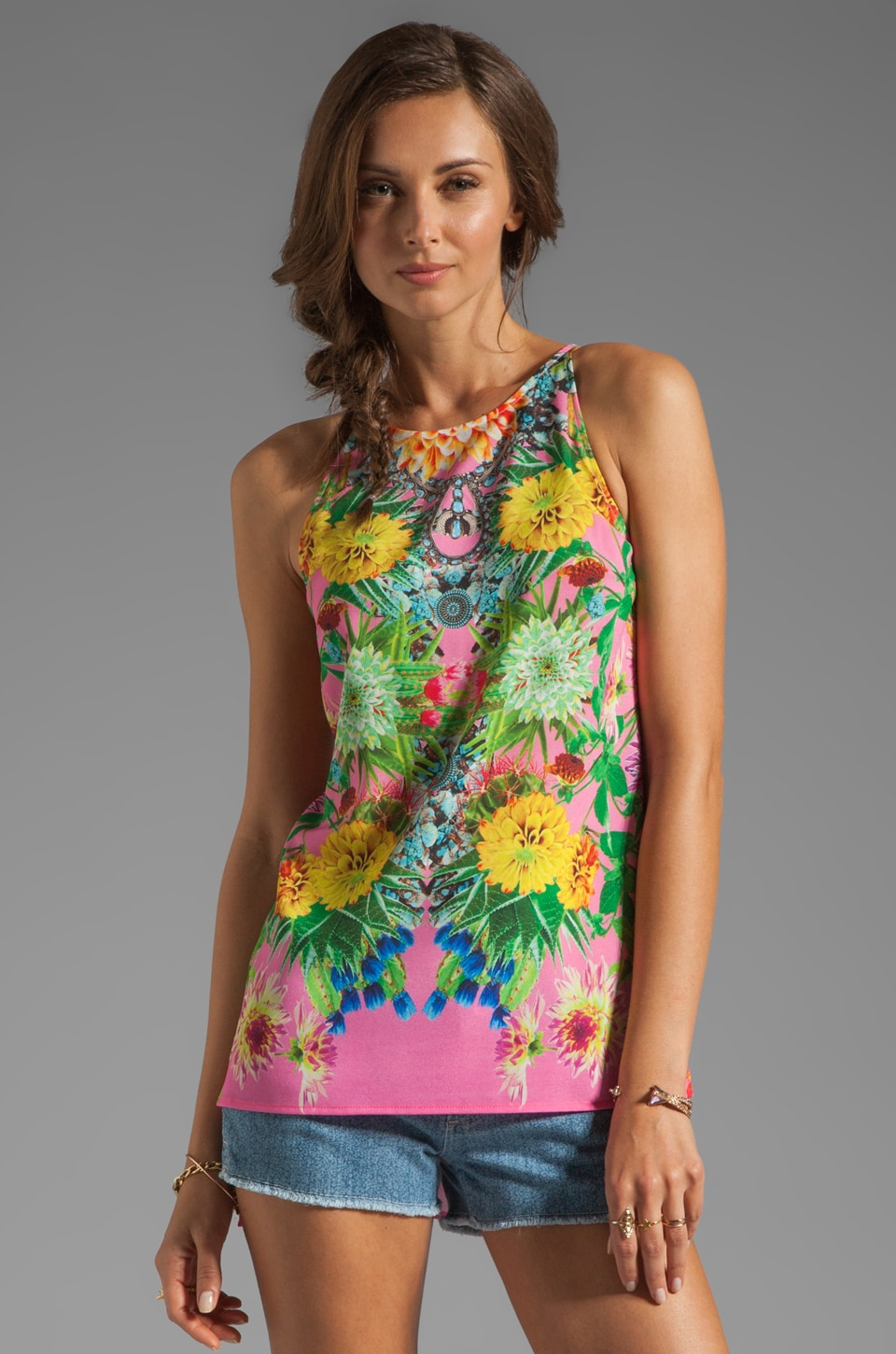 Clover Canyon Turquoise Valley Top in Pink