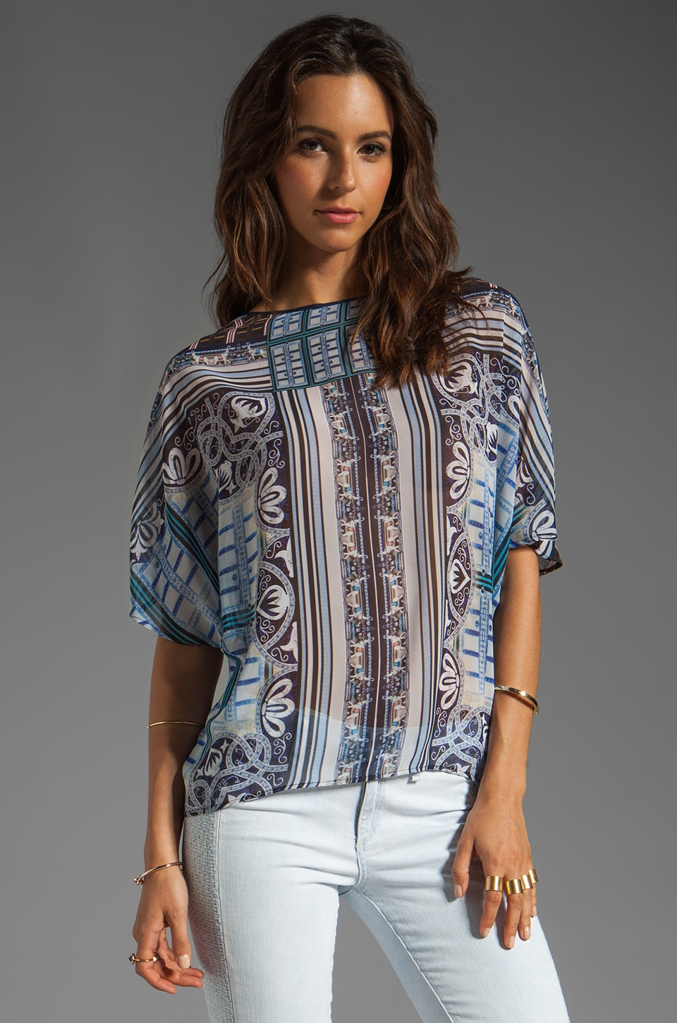Clover Canyon Ornate Filagree Top en Imprimé