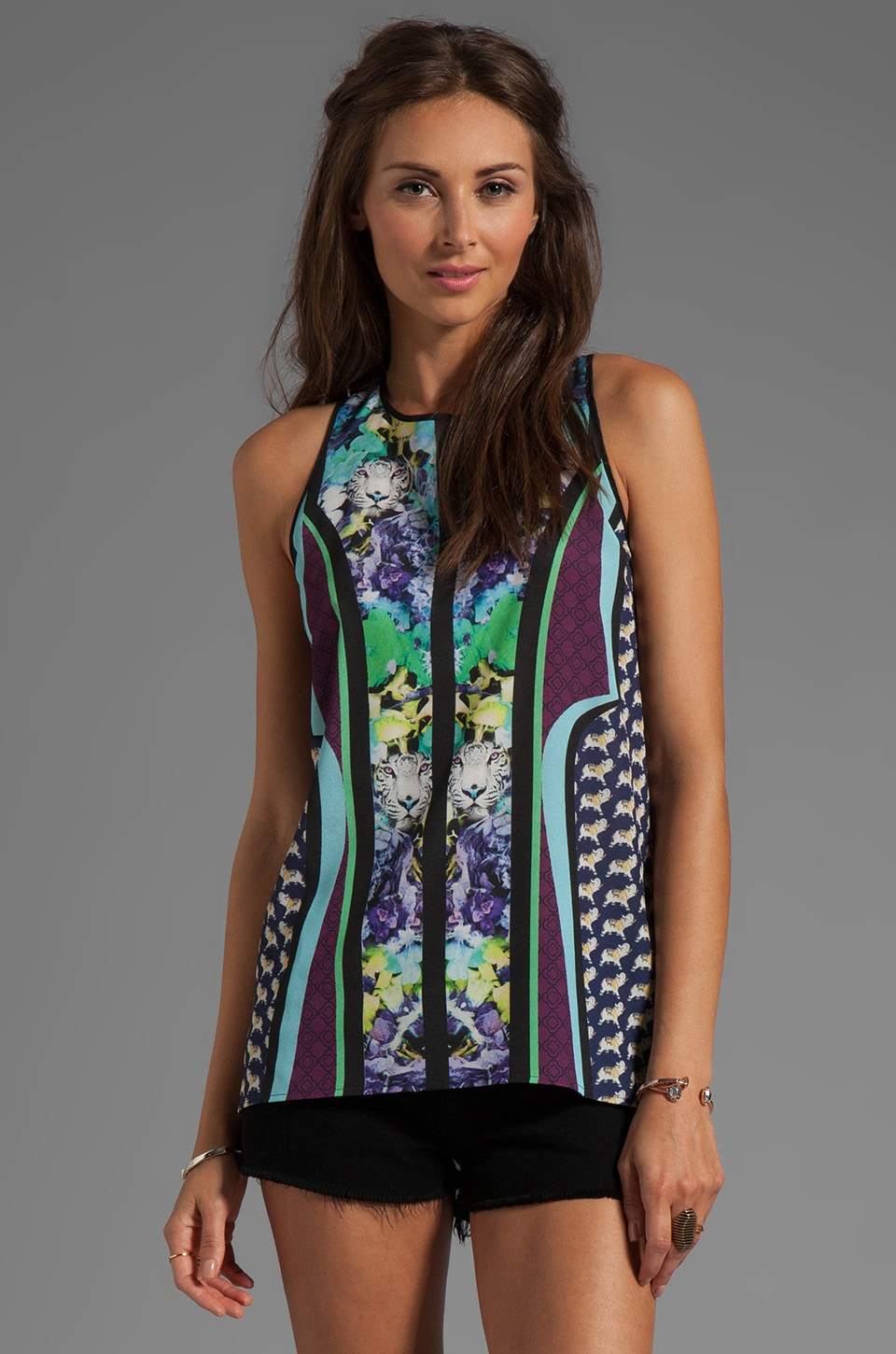 Clover Canyon Graphic Flowers Top in Multi