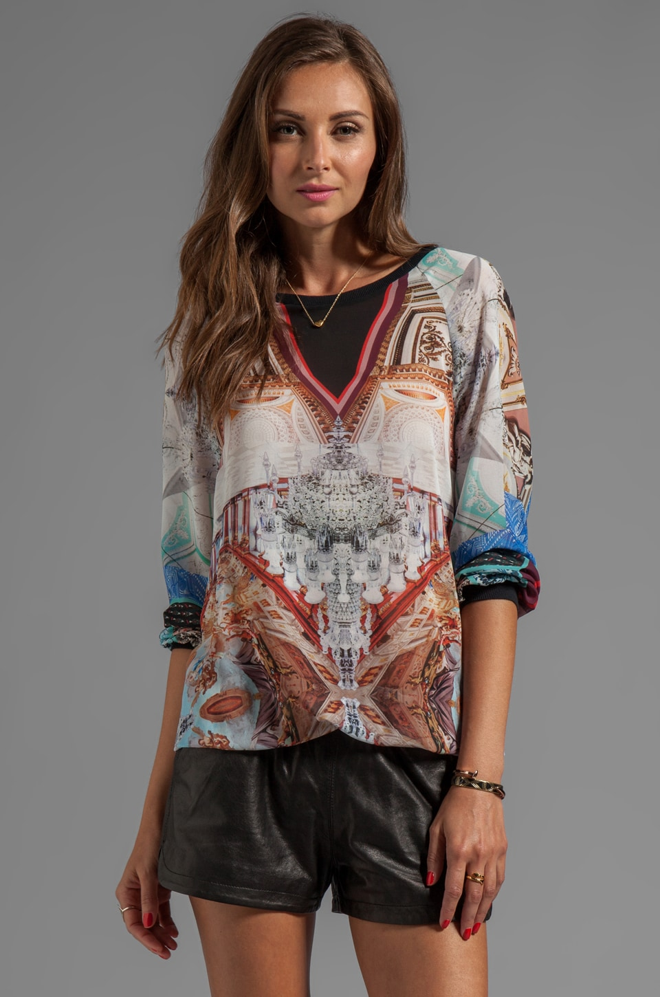 Clover Canyon Royal Palace Interior Top in Multi
