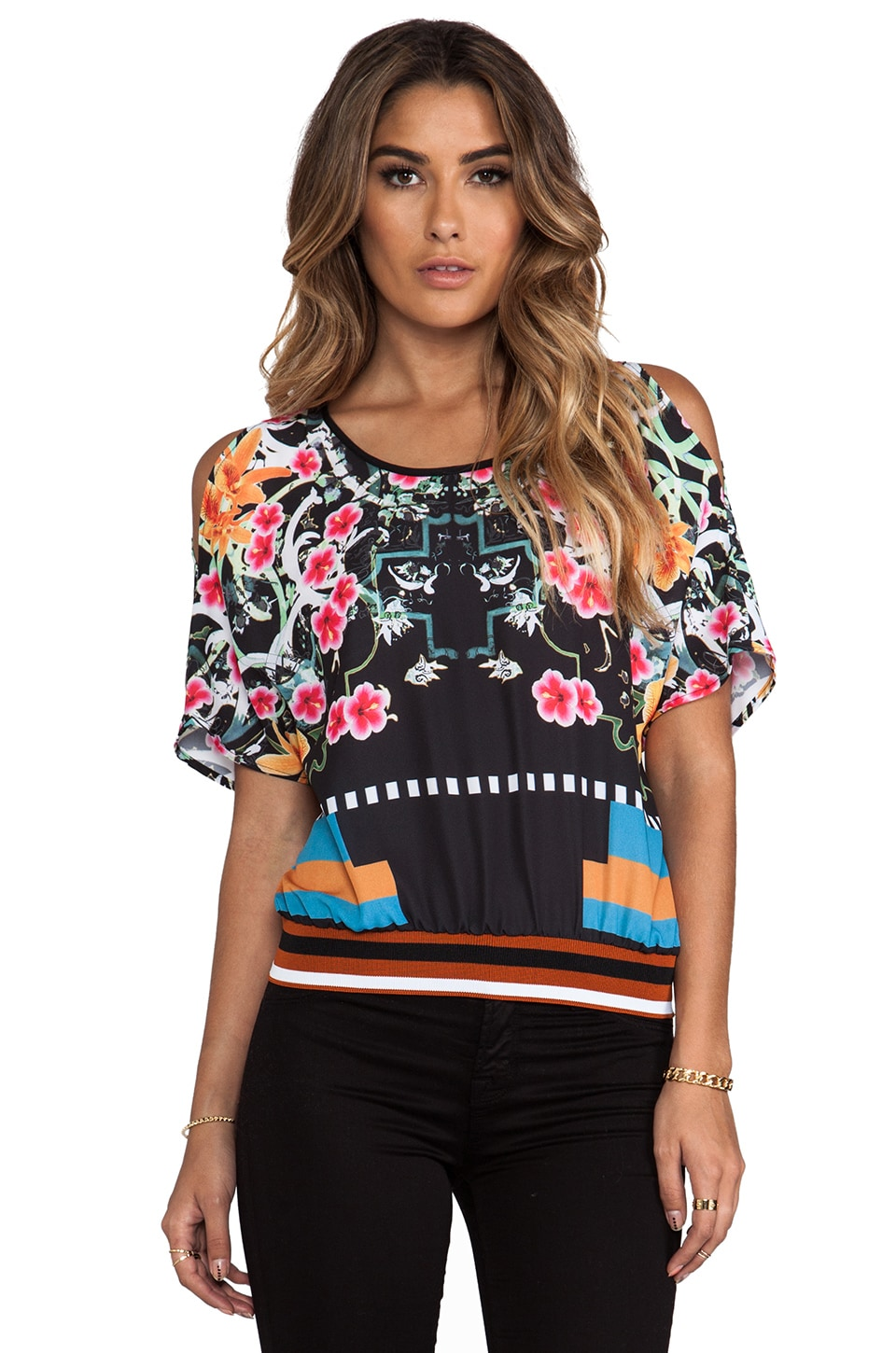 Clover Canyon Cuba Scarf Top in Multi