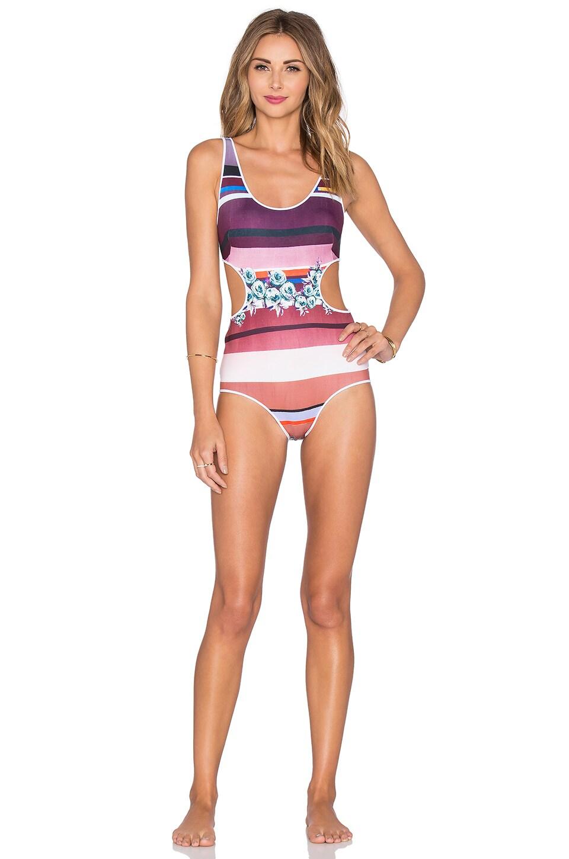 c92aa5a746 Clover Canyon Seaside Horizon Swimsuit in Multi   REVOLVE