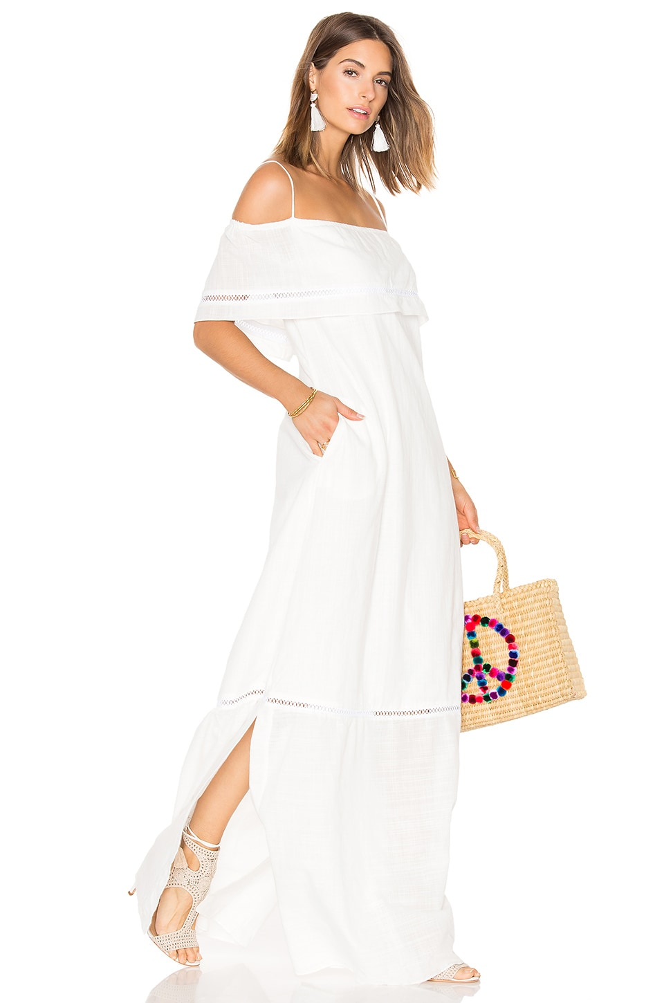 CLUBE BOSSA Sert Long Dress in Off White