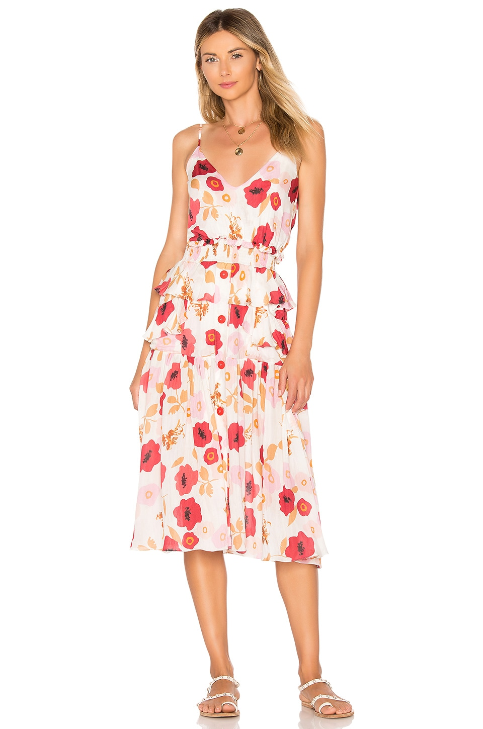 CLUBE BOSSA Ellia Midi Dress in Pepper Labeija