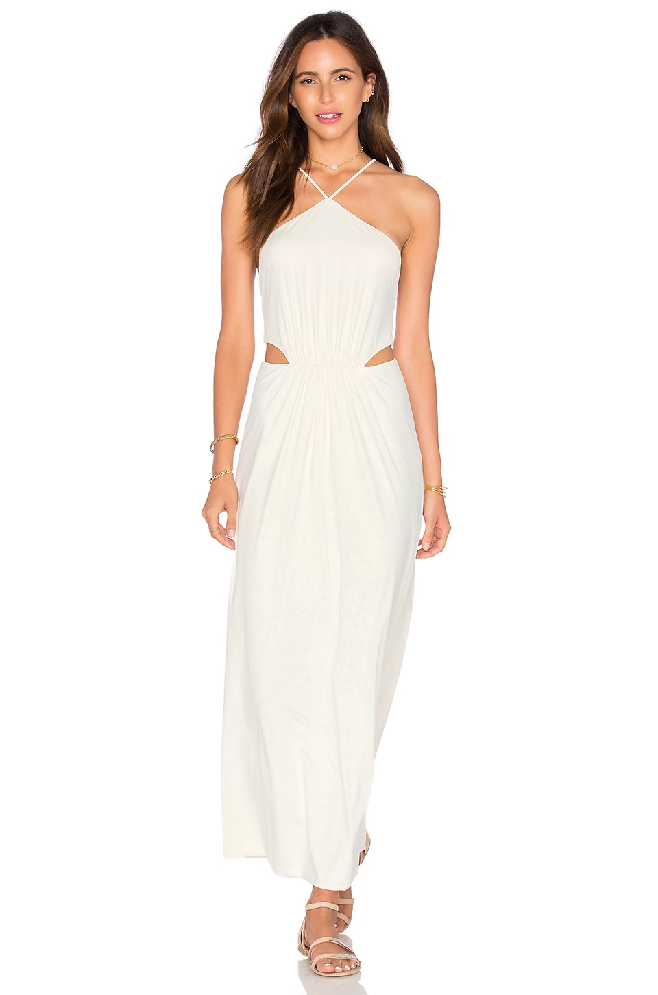 CLUBE BOSSA Middleton Maxi Dress in Perola