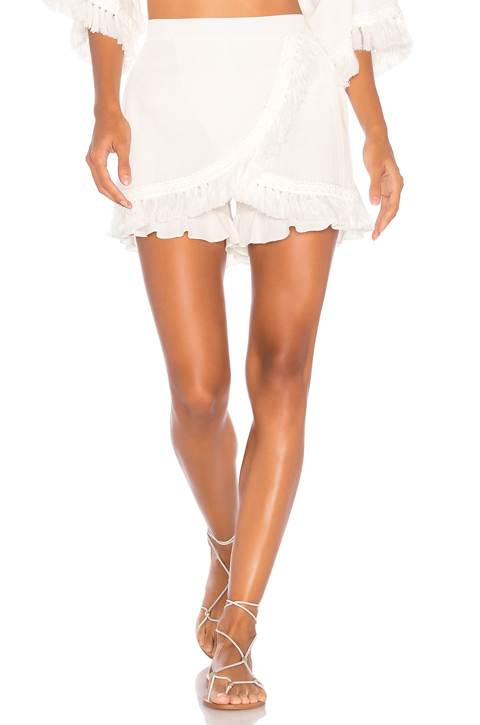 CLUBE BOSSA Turbeville Skort in Off White