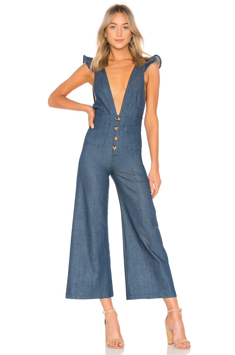 Saul Jumpsuit in Marina Denim