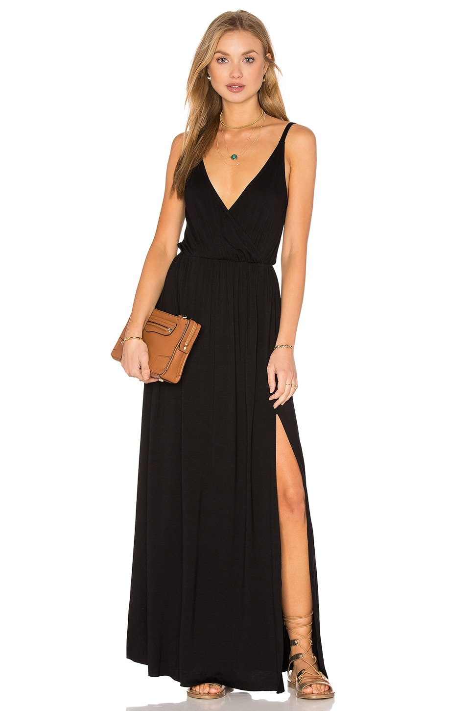 Clayton Aniya Maxi Dress in Black