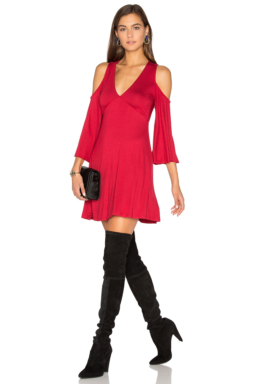 Clayton Becca Dress in Crimson