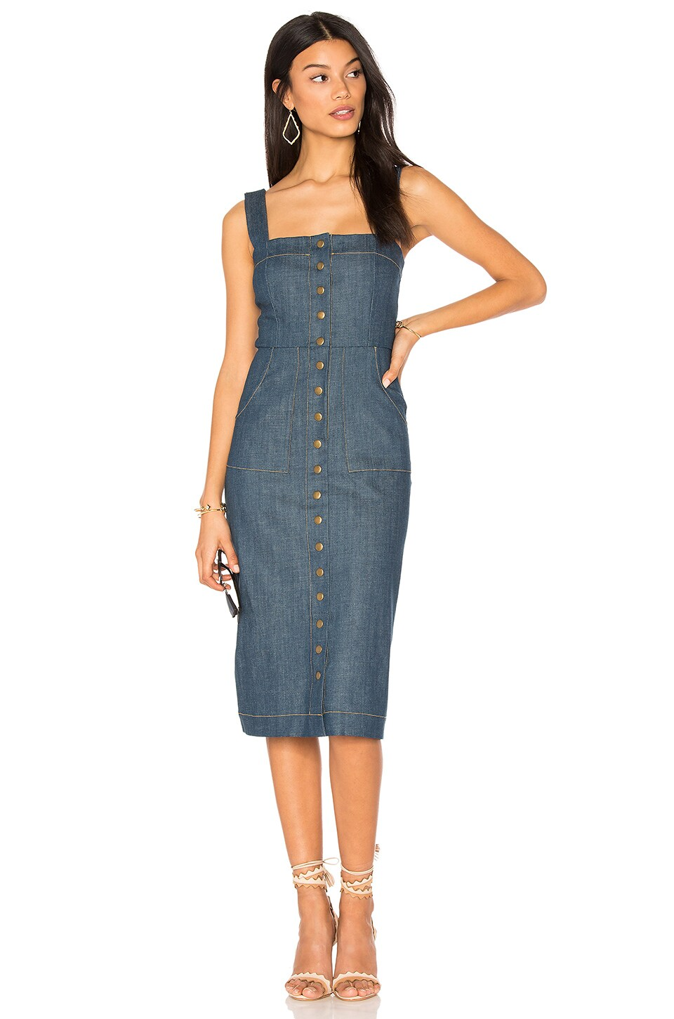 Clayton Marina Denim Candace Dress in Marina Denim