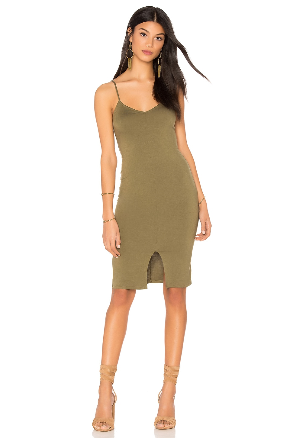 Clayton Kim Dress in Olive