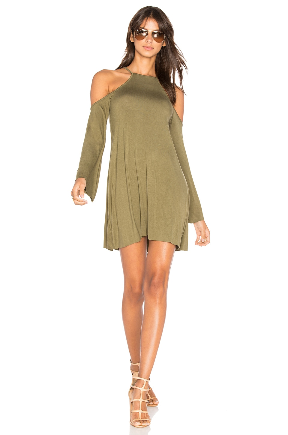 Clayton Everly Dress in Olive
