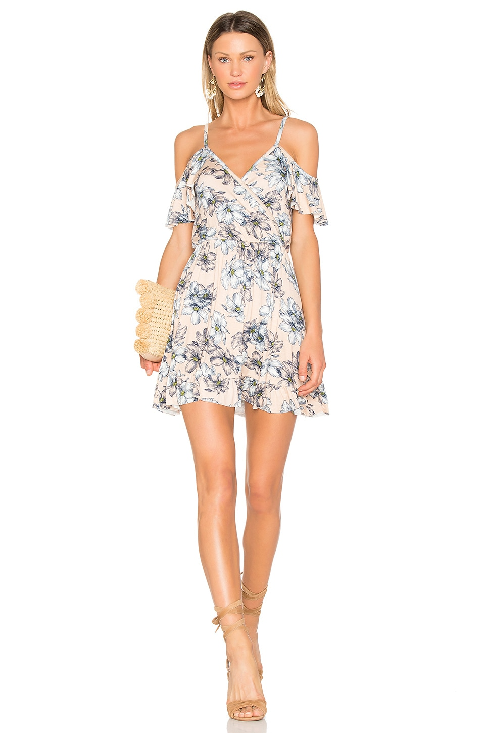 Clayton Joni Dress in Bare Floral Sketch