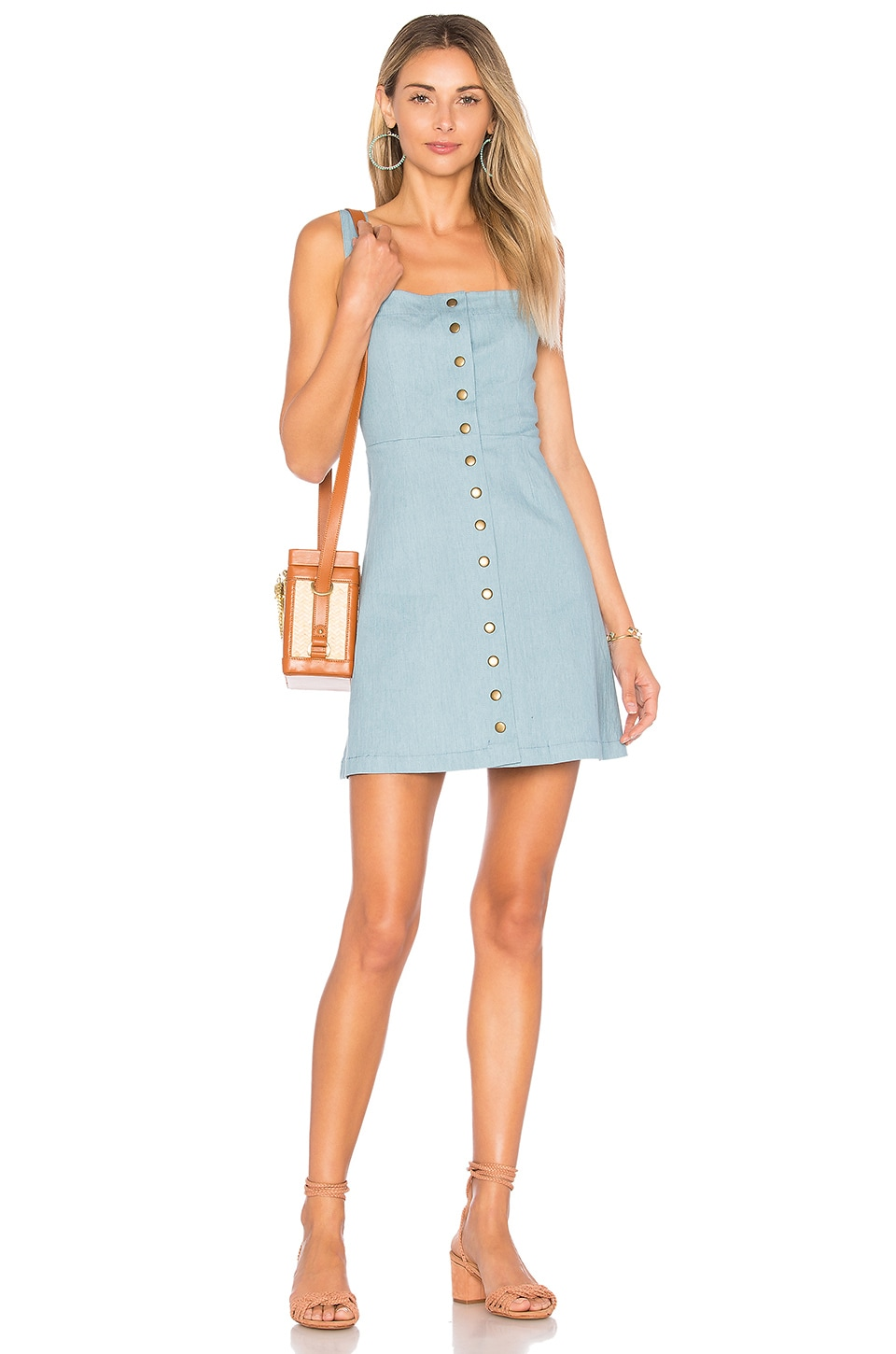 Clayton Denim Angie Dress in Sunfade Denim