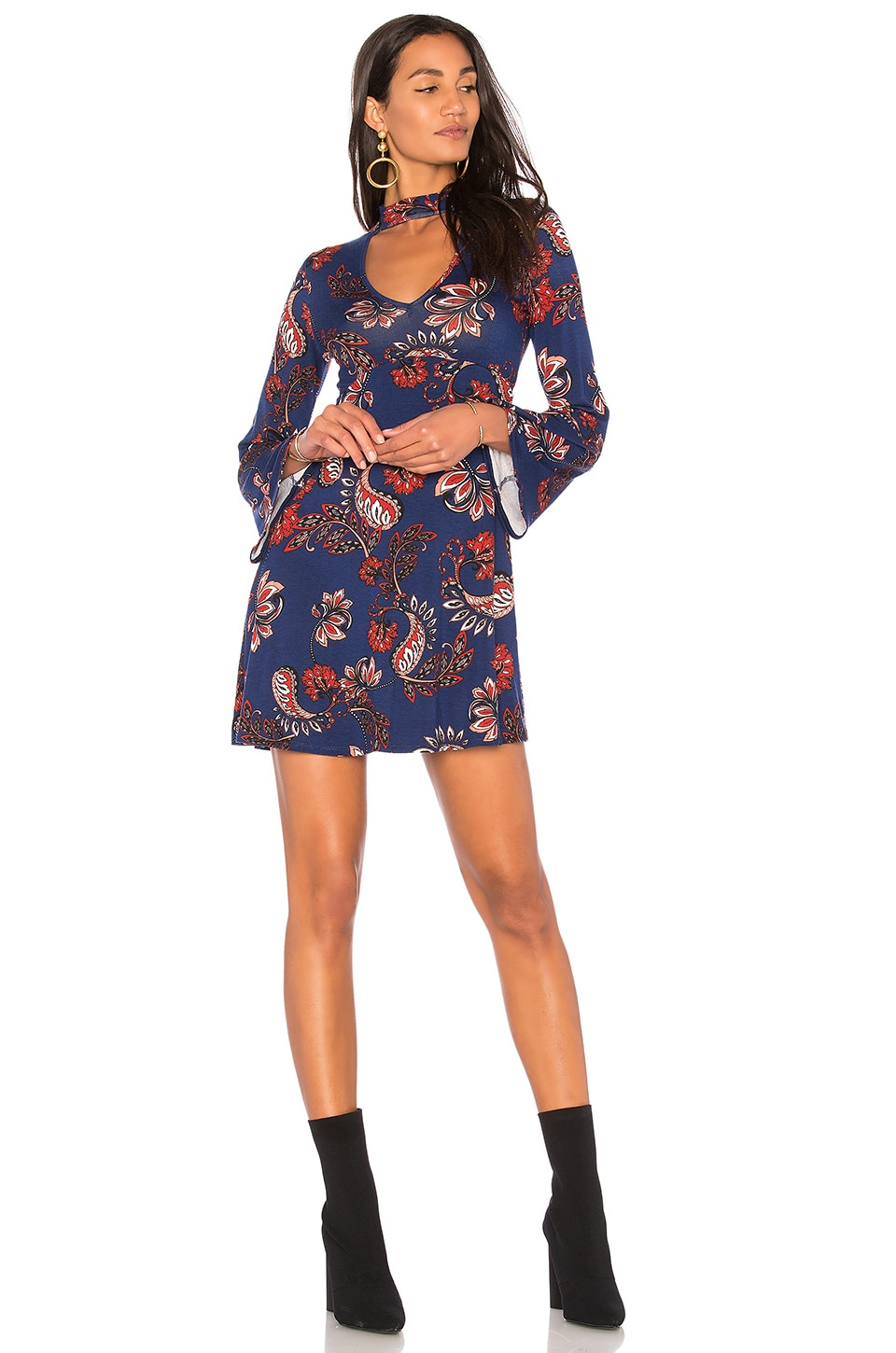 Clayton Audra Dress in Navy Plume