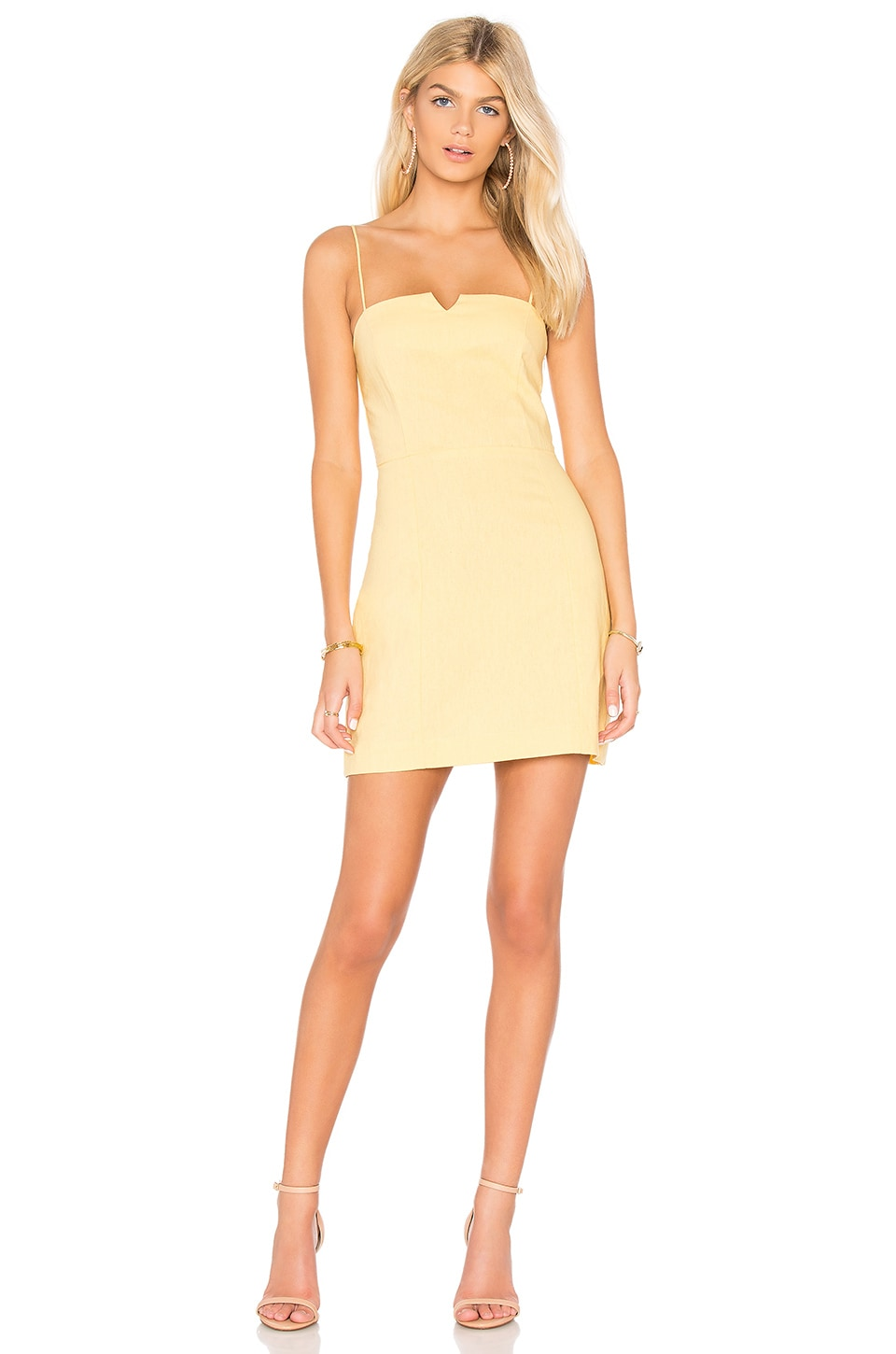 Clayton Carol Dress in Yellow