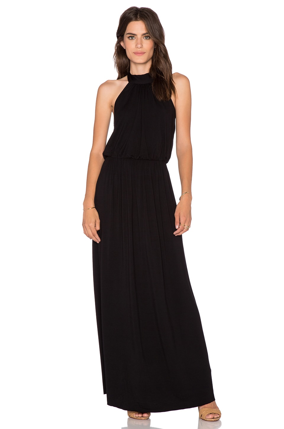 Clayton Evelyn Maxi Dress in Black