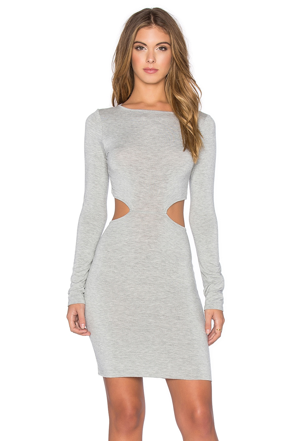 Clayton Gigi Dress in Heather Grey