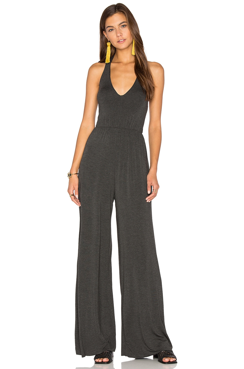 Clayton Agnes Jumpsuit in Charcoal