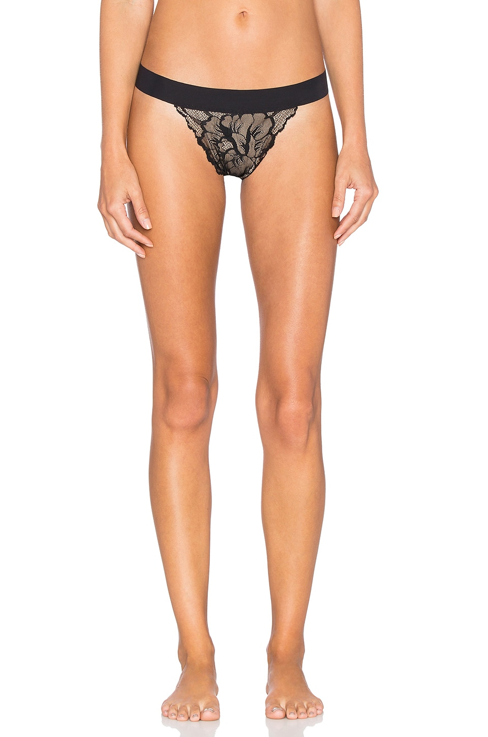 Commando Lust & Lace G-String in Black