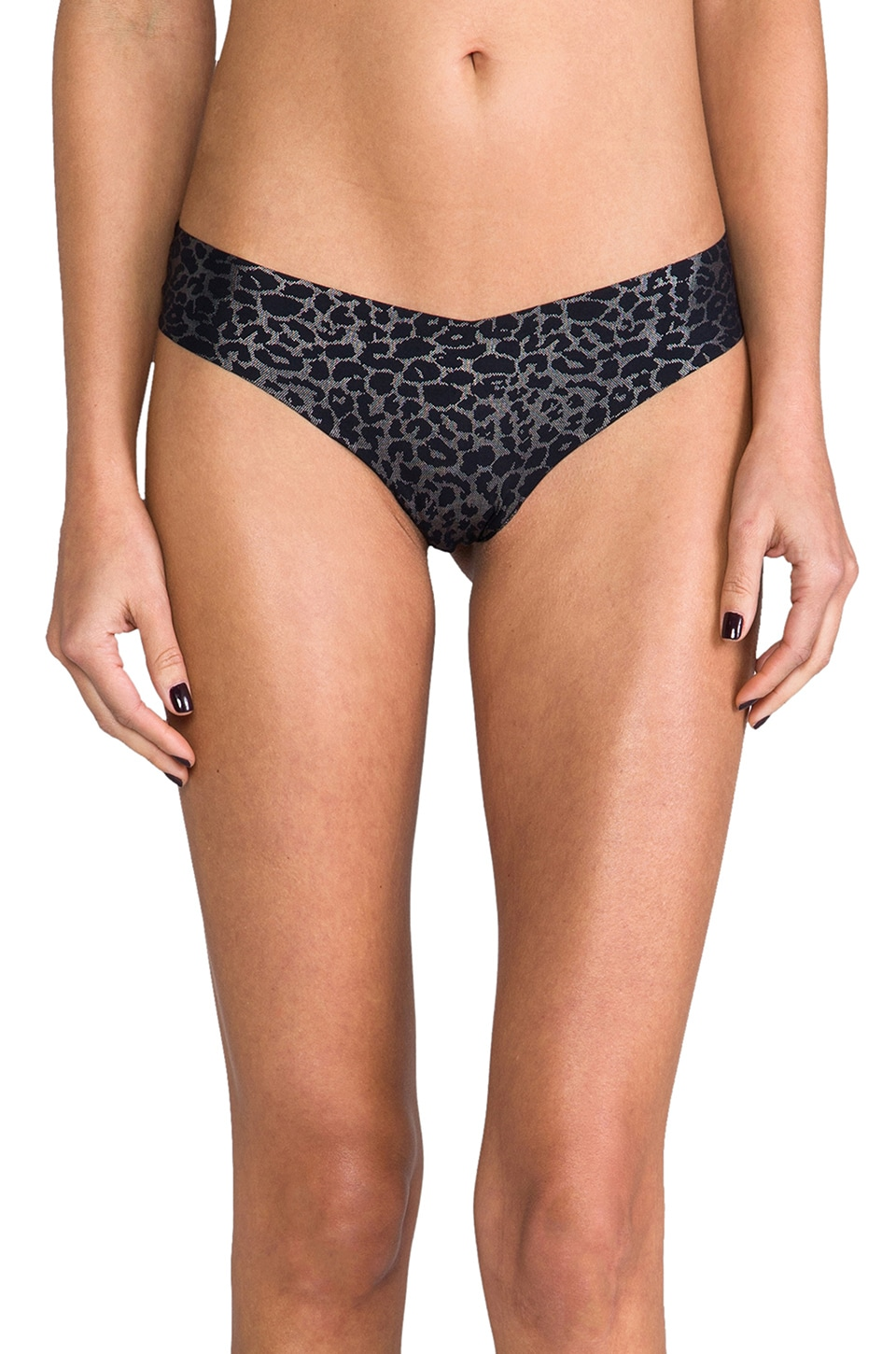 Commando Thong in Sparkle Kitty Black