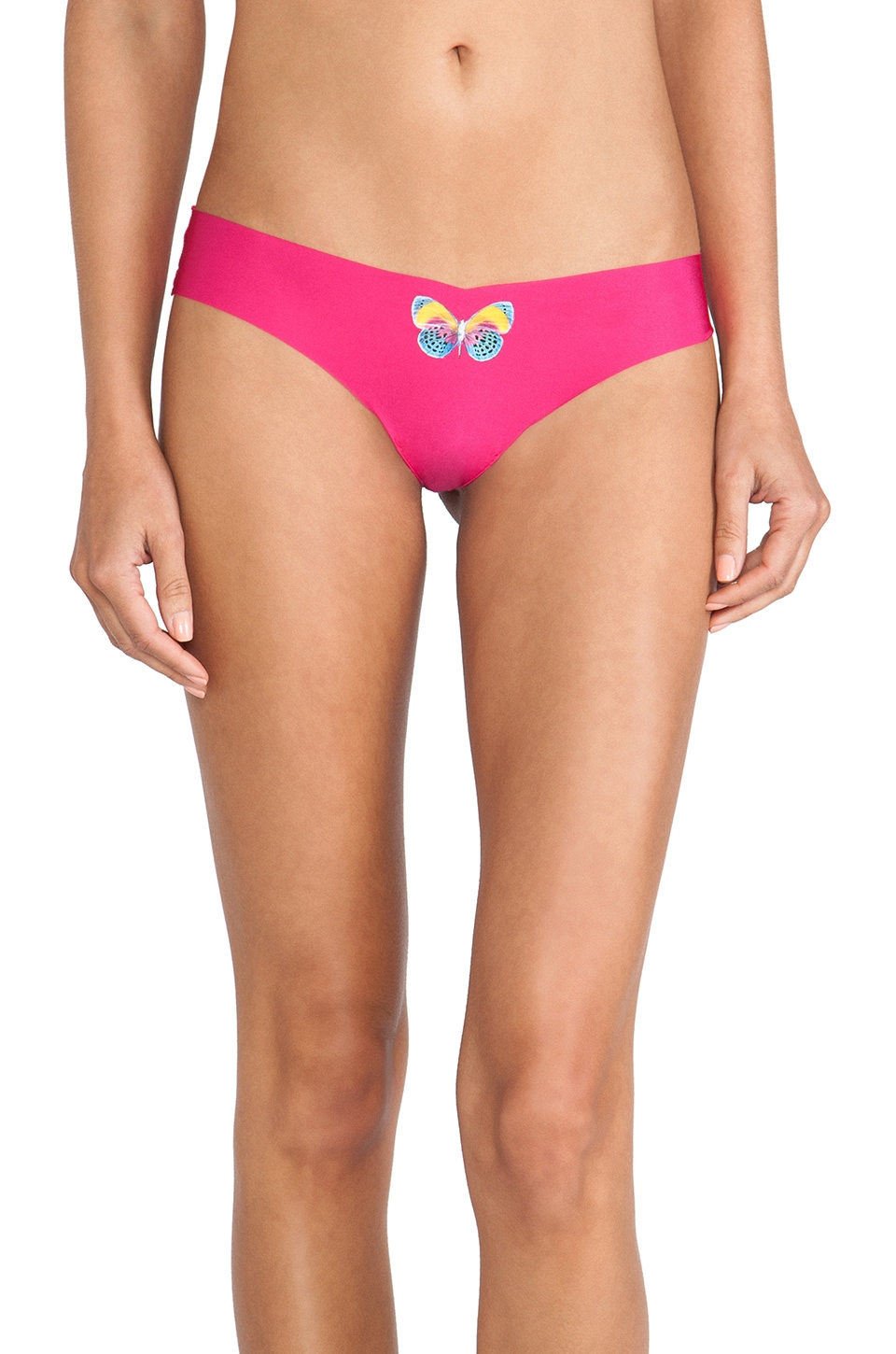 Commando Thong in Multi Butterfly & Hot Pink