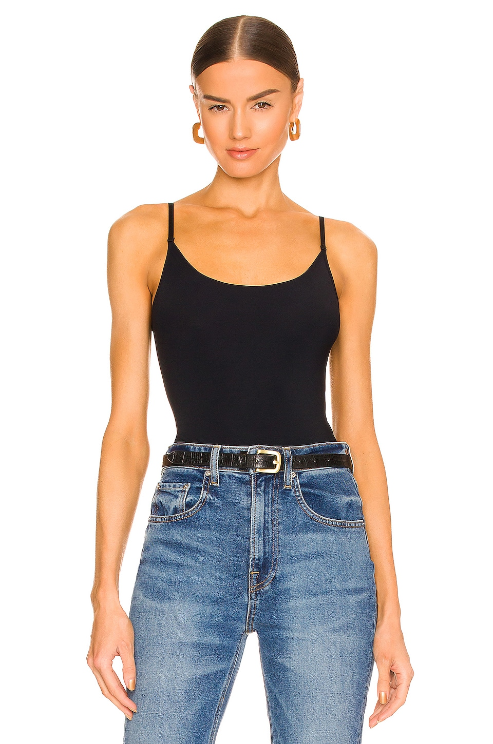 Commando Classic Bodysuit Thong in Black