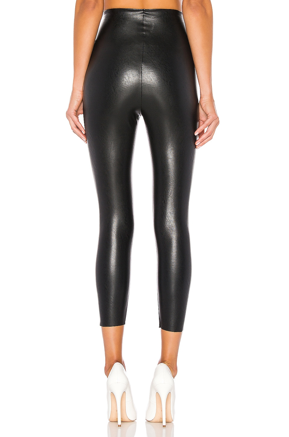 Perfect Control Faux Leather Capri, view 3, click to view large image.
