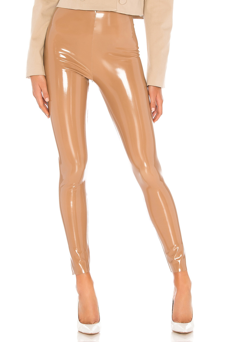 Commando Patent Leggings in Cocoa
