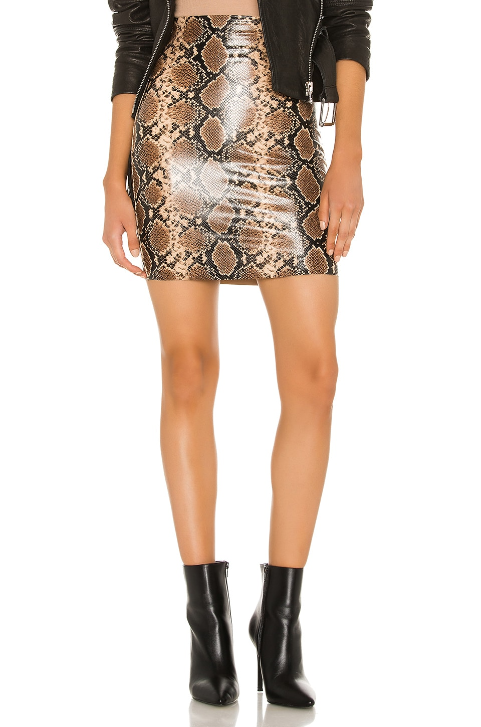 Commando Faux Leather Animal Mini Skirt en Snake