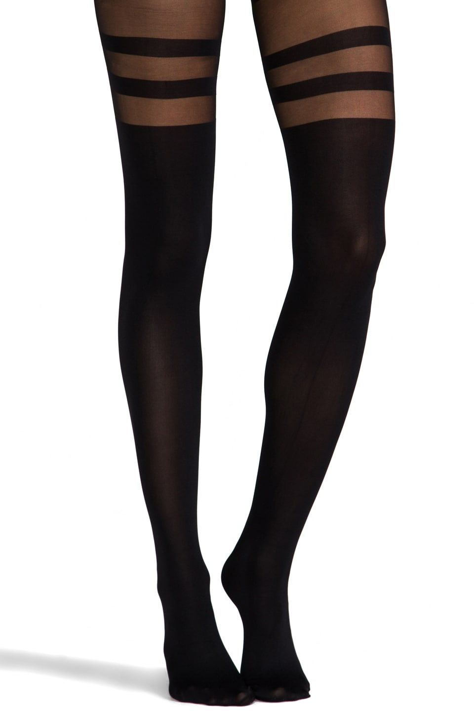 Commando Fashion Tights in Halo Black