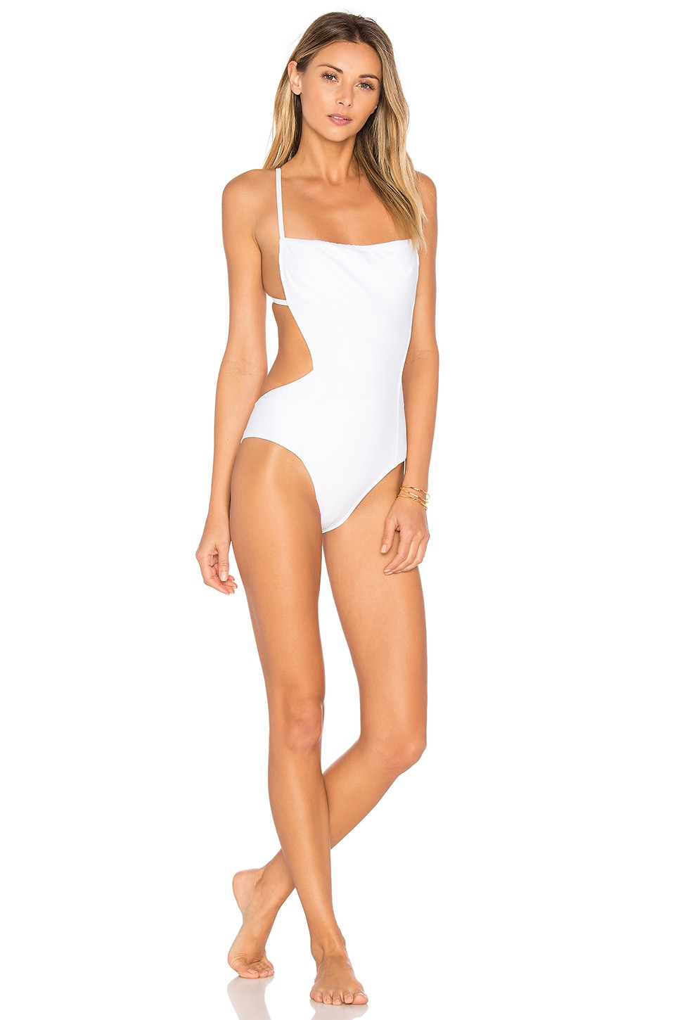 CHROMAT Skim One Piece in White